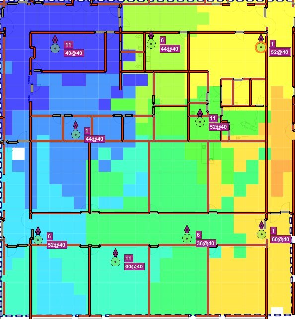 AP cell coverage heatmap by KIT Communications